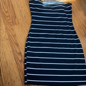 A dress with black and white strips